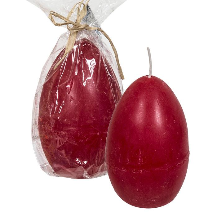 Μεγάλο Κερί σε σχήμα Πασχαλινό Αυγό 180gr σε κόκκινο χρώμα, 73-1086 - Cb