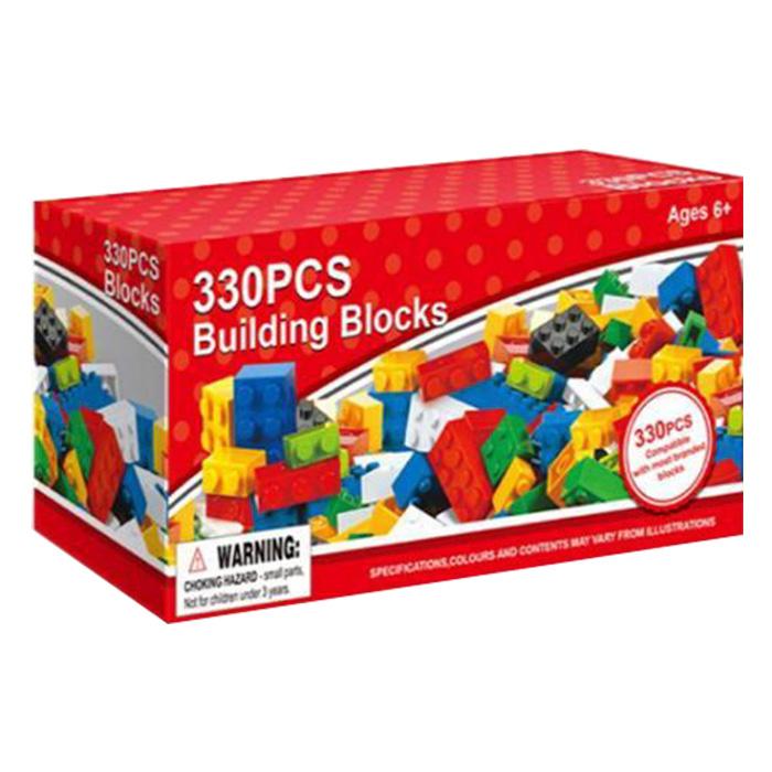 Σετ Παιδικά Πολύχρωμα Τουβλάκια 330 τεμ Κατάλληλο για παιδιά άνω των 6 ετών - Cb παιχνίδια   τουβλάκια