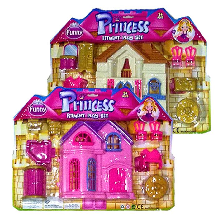 Σετ Πριγκίπισσας Σπίτι με έπιπλα Σε 2 Σχέδια - Cb παιχνίδια   σπιτάκια