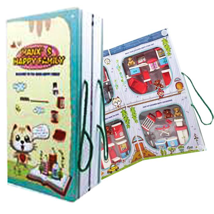 Σπιτάκι Βιβλίο 4 σε 1 με Έπιπλα Σπιτιού, Διαστάσεων 21x41cm - Cb παιχνίδια   σπιτάκια