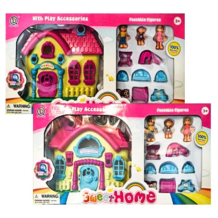 Σπιτάκι με Έπιπλα και Οικογένεια σε 2 Σχέδια, Sweet Home - Cb παιχνίδια   σπιτάκια