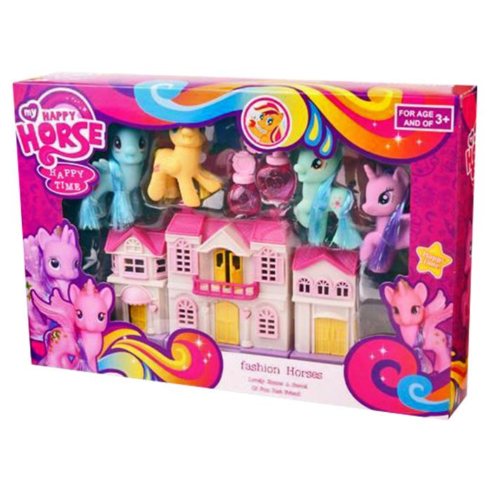 Χρωματιστά Πόνυ Με Σπιτάκι, Happy Horse - Cb παιχνίδια   σπιτάκια