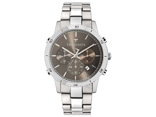 Trussardi Αντρικό Ρολόι Heritage Stainless Steel Case Bracelet and Chronograph, R2473617003