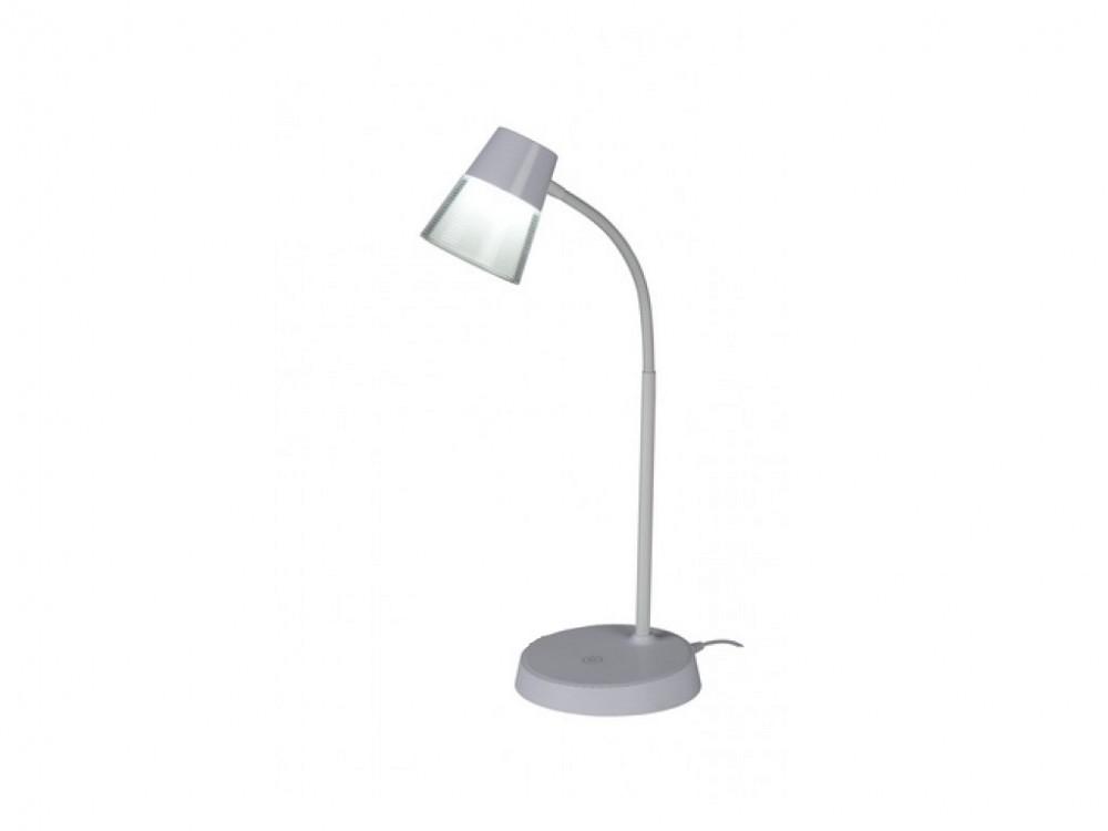 Grundig Μοντέρνο Εύκαμπτο LED Φωτιστικό Γραφείου 4.5w 48cm Θερμοκρασίας 6000 6500K με USB και Μπαταρίες σε Ασημί χρώμα, 15713