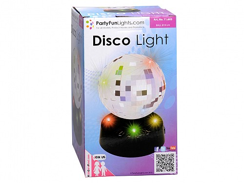 Party Fun Lights Mirror Disco Μπάλα 10cm με 4 LED, 86581