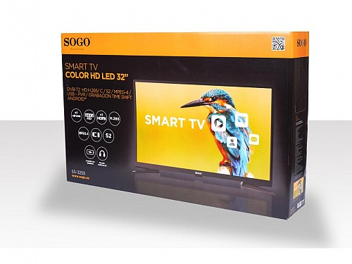 "Sogo Smart TV Τηλεόραση Full HD, LED 32"", Wifi, DVB-T2, 73.2x8.7x43.5cm, TV-SS-3255"