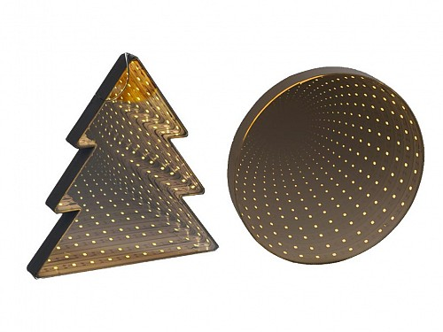 Grundig Christmas LED mirror, in 2 designs, Xmas Infinity
